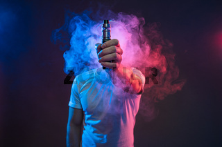 Vaping flavored e-liquid from an electronic cigarette