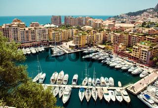 View of Fontvieille. Principality of Monaco
