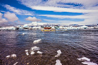 The trash-ice on Jokulsarlon