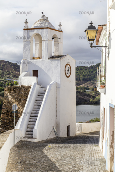 Uhrturm, clock tower (Torre do Relogio), Mertola, Alentejo, Portugal