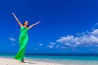 Woman enjoy vacation on beach