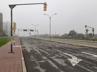 Empty Urban Highway, Montevideo, Uruguay