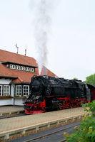 Die Brockenbahn im Bahnhof von Wernigerode