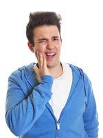 Hispanic guy with toothache