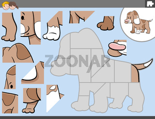 jigsaw puzzle game with cute puppy character