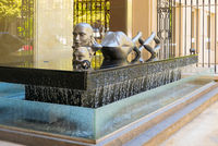 Argentina Cordoba sculpture of a swimming woman in a fountain