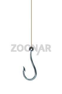 fishing hook isolated on white background