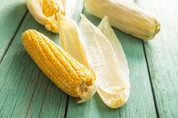 Uncooked corn cob