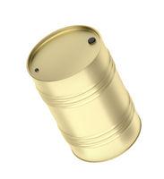 Fuel drum in gold color