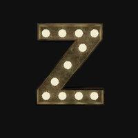 Buchstabe Z mit Lampen