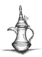 Middle Eastern Culture Dallah - Vector Illustration of the arabic coffee pot