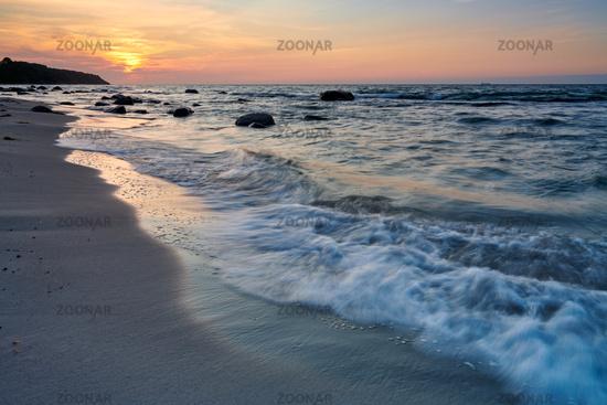 Ruegen Strand Sonnenuntergang