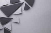 Abstract Background With Black And Gray Triangular