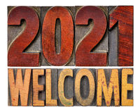 2021 welcome - New Year greeting card