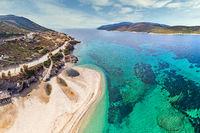 The beach Megali Ammos of Marmari in Evia, Greece