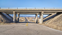 freeway intersection in northern Colorado