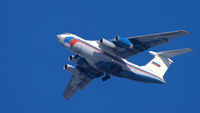 IL-76 airfreighter approaching