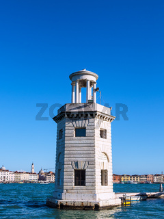 Leuchtturm auf der Insel San Giorgio Maggiore in Venedig, Italien