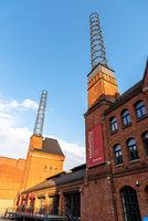 The Warehouse District or Speicherstadt in Hamburg