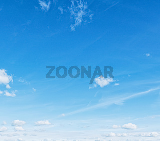 Bright blue sky with clouds, nature and environment