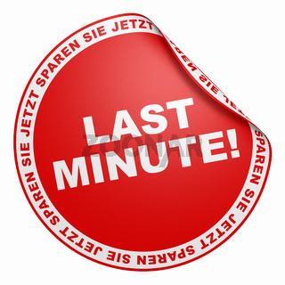 3D Aufkleber Rot - Last Minute!