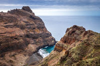 Cliffs and ocean view in Santo Antao island, Cape Verde