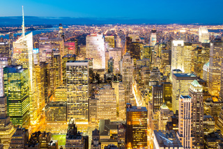 New York City skyline dusk