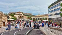 Panoramic view of  Monastiraki Square in Athens