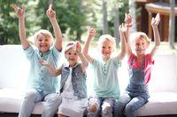 Happy children friends