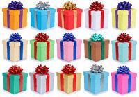 Weihnachten Geschenke Geburtstag Weihnachtsgeschenke Hintergrund Geburtstagsgeschenke Schachteln schenken isoliert