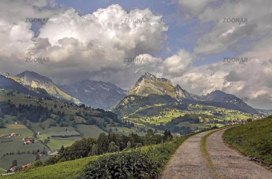 Säntis und Wildhuser Schafberg,Toggenburg, Schweiz