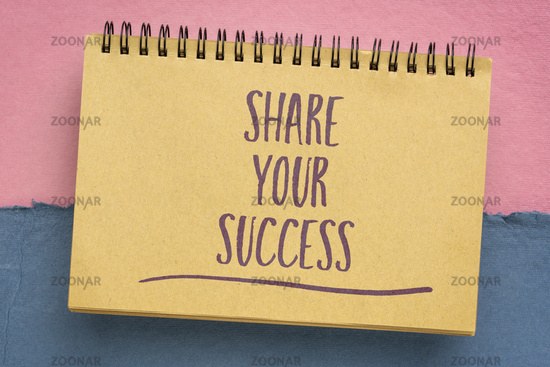 share your success inspirational note