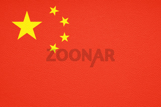 chinese flag of china printed on leather