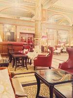 Luxury interior design of five star Hotel Metropole in Brussels, Belgium