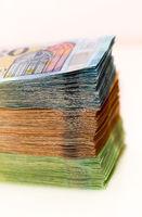 Banknoten auf einem Stapel