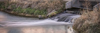 Processed and cleaned sewage outflow