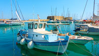 Fshing boats in the old port of Heraklion
