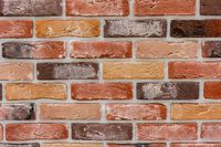 Old grunge brick wall background. Background of red brick wall pattern texture. Great for graffiti inscriptions