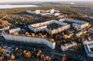 aerial photo of DDR Plattenbau in Berlin