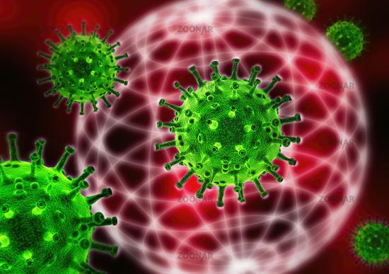 Viren und Globus
