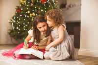Girls sharing their dreams on Christmas eve