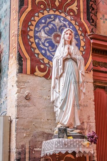 Madonna statue in the church of Gordes
