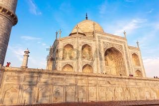 Taj Mahal mausoleum, detailed close view, India