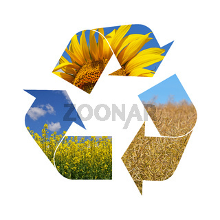 Illustration recycling symbol of agriculture
