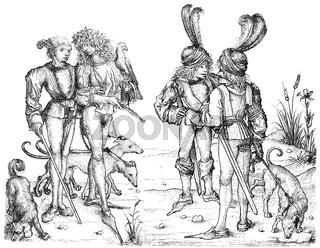 aristocratic costumes, 15th century