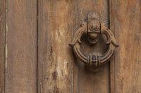 Türklopfer an alter Haustür