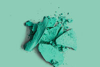 Mint eye shadow powder as makeup palette closeup, crushed cosmetics and beauty texture