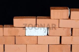 halbe ziegelsteinmauer