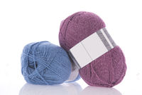 Blue and pink wool