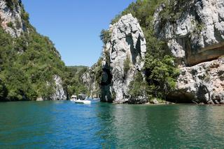 boat ride on esparron lake, France.